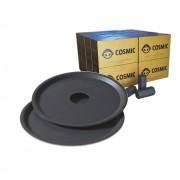 kit Carvão de Coco 4kg Longa Duração e  02 Prato Preto  em Alumínio - Cosmic