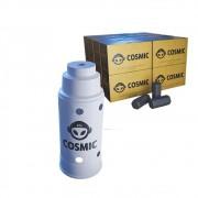 kit Carvão de Coco 4kg Longa Duração e Abafador Branco Grande em Alumínio - Cosmic