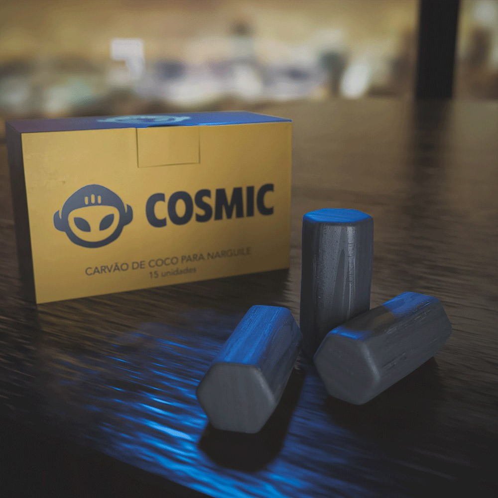 Carvão de Coco Atacado 10kg Longa Duração Alta Qualidade - Cosmic