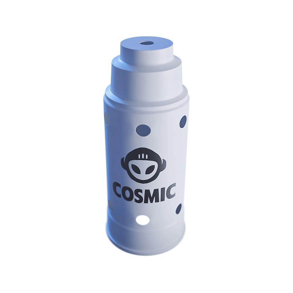 kit 02 Abafador Branco/Preto Grande em Alumínio com Design Moderno e Minimalista - Cosmic