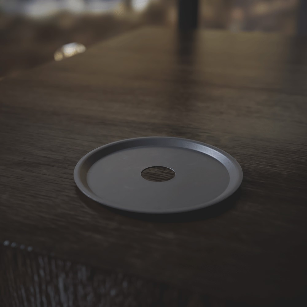 kit 02 Abafador Preto Grande  e Prato Preto em Alumínio com Design Moderno e Minimalista - Cosmic
