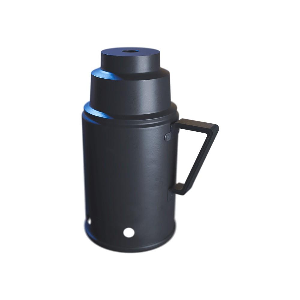 kit 02 Abafador Preto Pequeno/Médio em Alumínio com Design Moderno e Minimalista - Cosmic