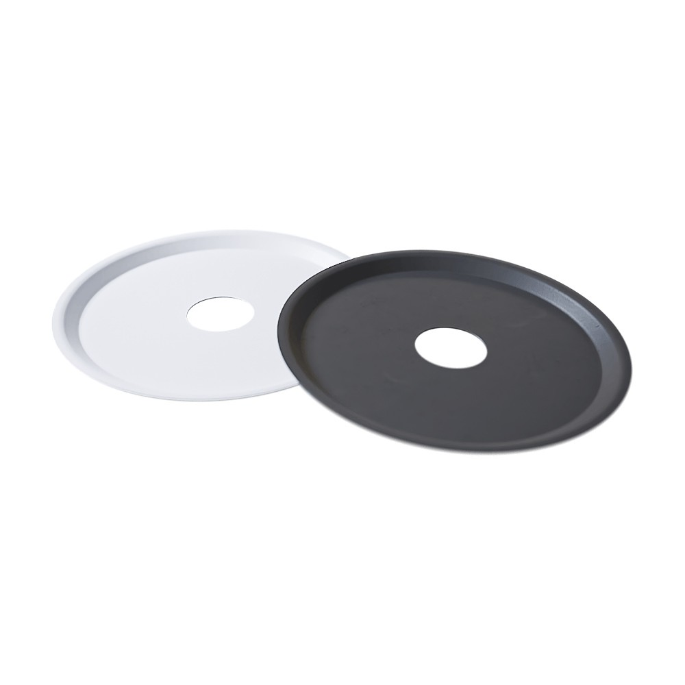 kit 02 Prato Branco/Preto para Cinzas em Alumínio com Design Moderno e Minimalista - Cosmic