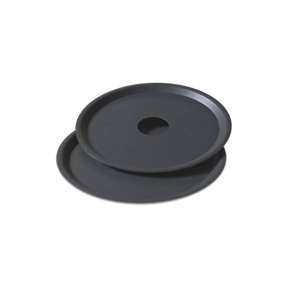 kit 02 Prato Preto para Cinzas em Alumínio com Design Moderno e Minimalista - Cosmic