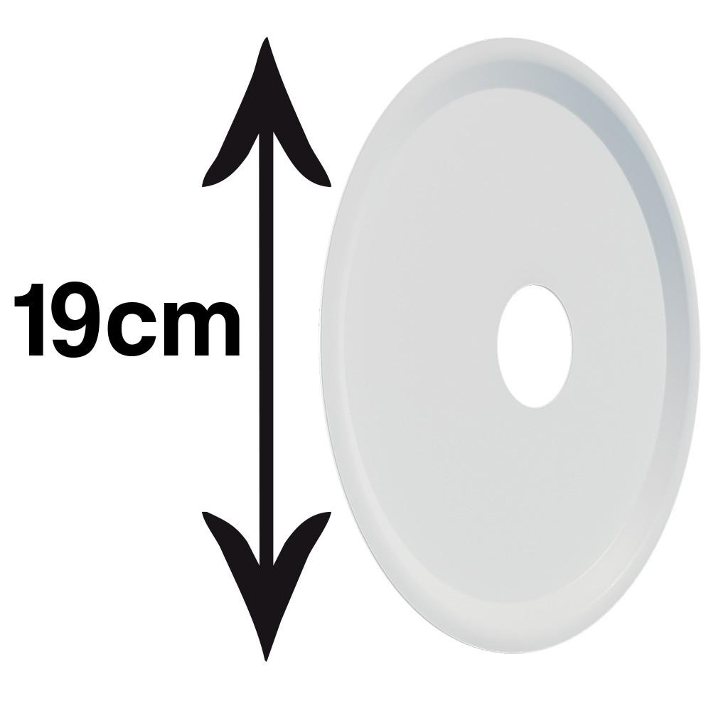 kit Abafador Branco Pequeno/Médio  e Prato Branco em Alumínio com Design Moderno e Minimalista - Cosmic