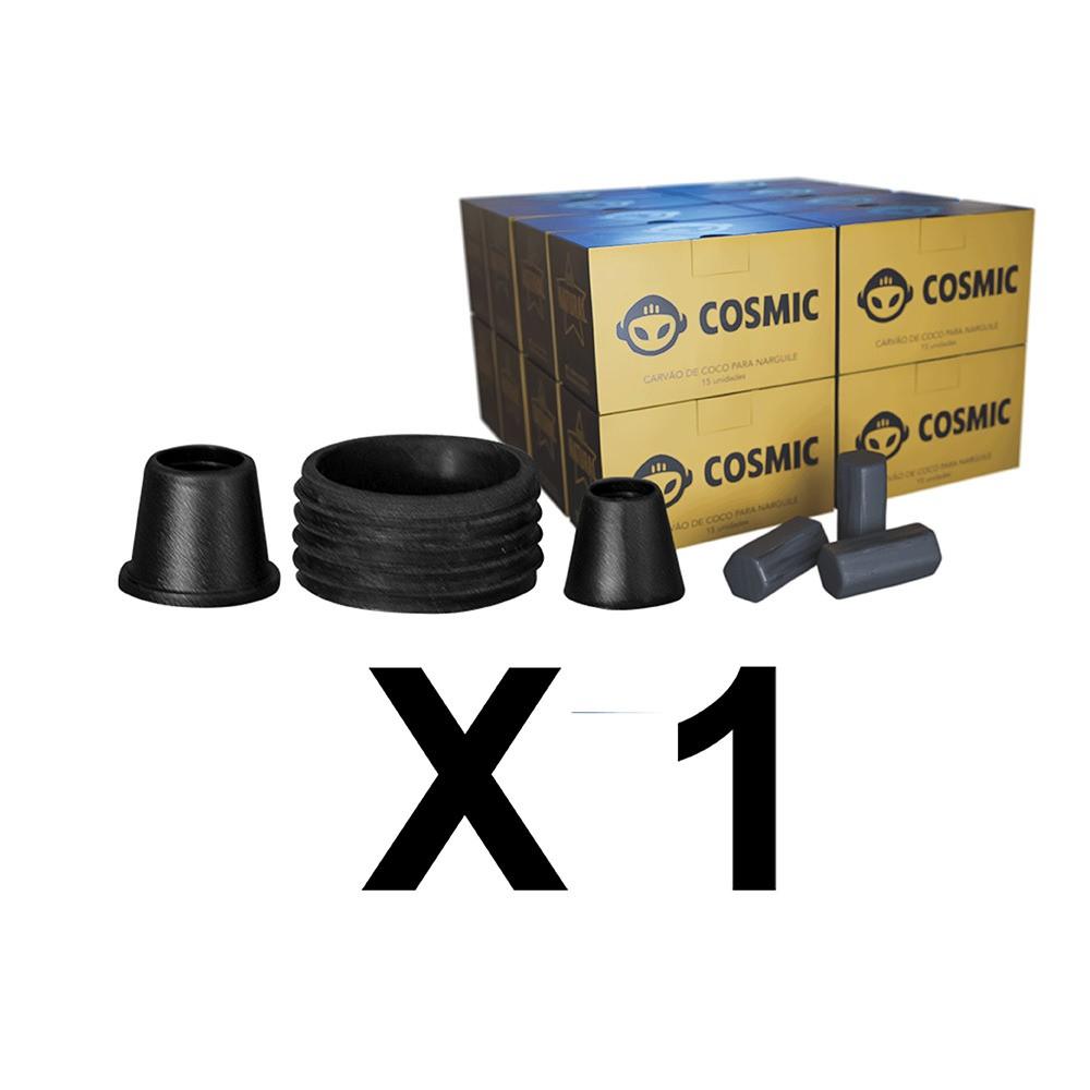 Kit Borrachas de Vedação para Stem e Carvão de Coco 4kg - Cosmic
