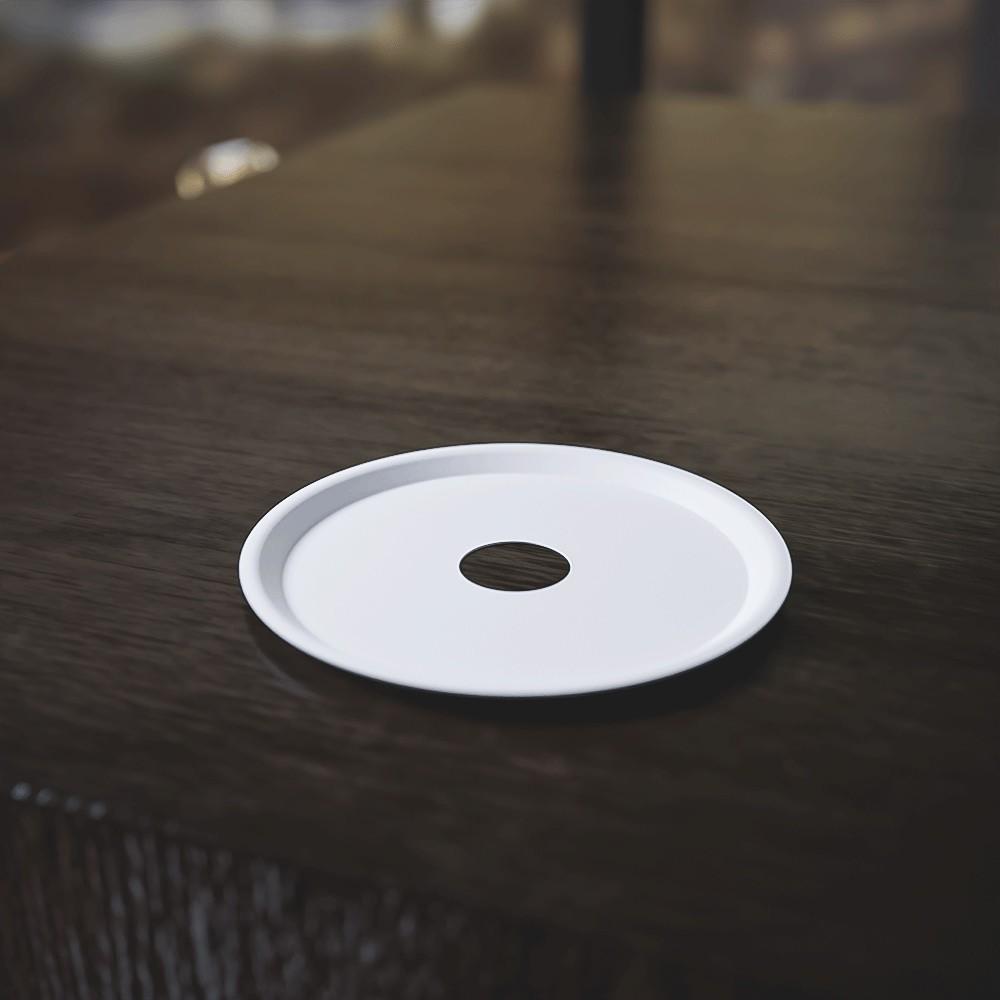 kit Carvão de Coco 1kg Longa Duração e 03 Prato Branco  em Alumínio - Cosmic