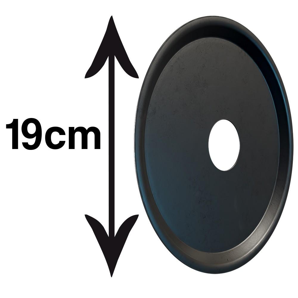 kit Carvão de Coco 250g Longa Duração e 04 Prato Preto  em Alumínio - Cosmic