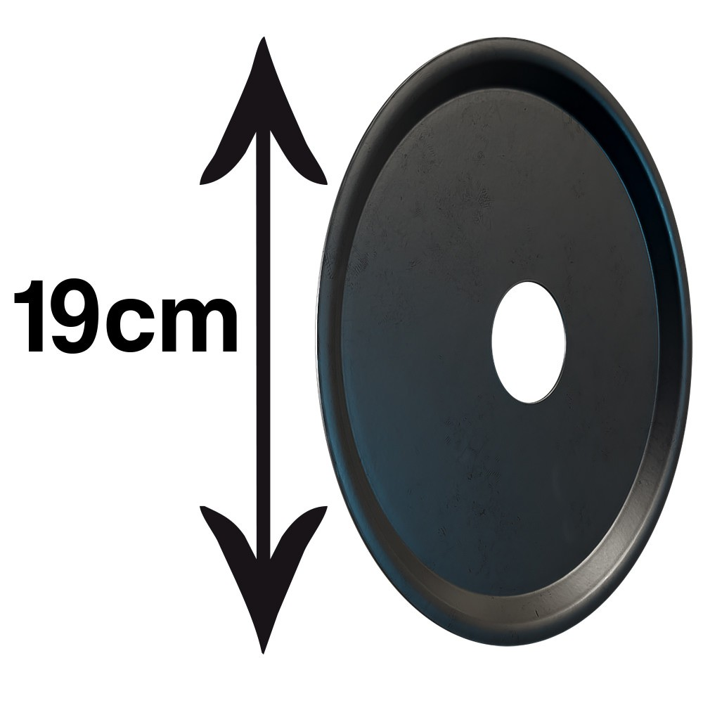 kit Carvão de Coco 2kg Longa Duração e 02 Prato Preto  em Alumínio - Cosmic