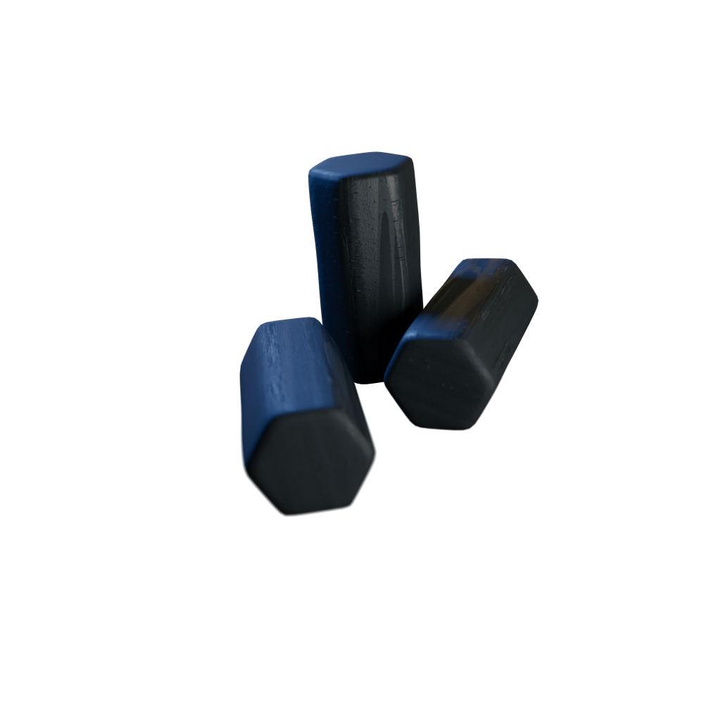 kit Carvão de Coco 2kg Longa Duração e 03 Abafador Preto Pequeno/Médio em Alumínio - Cosmic