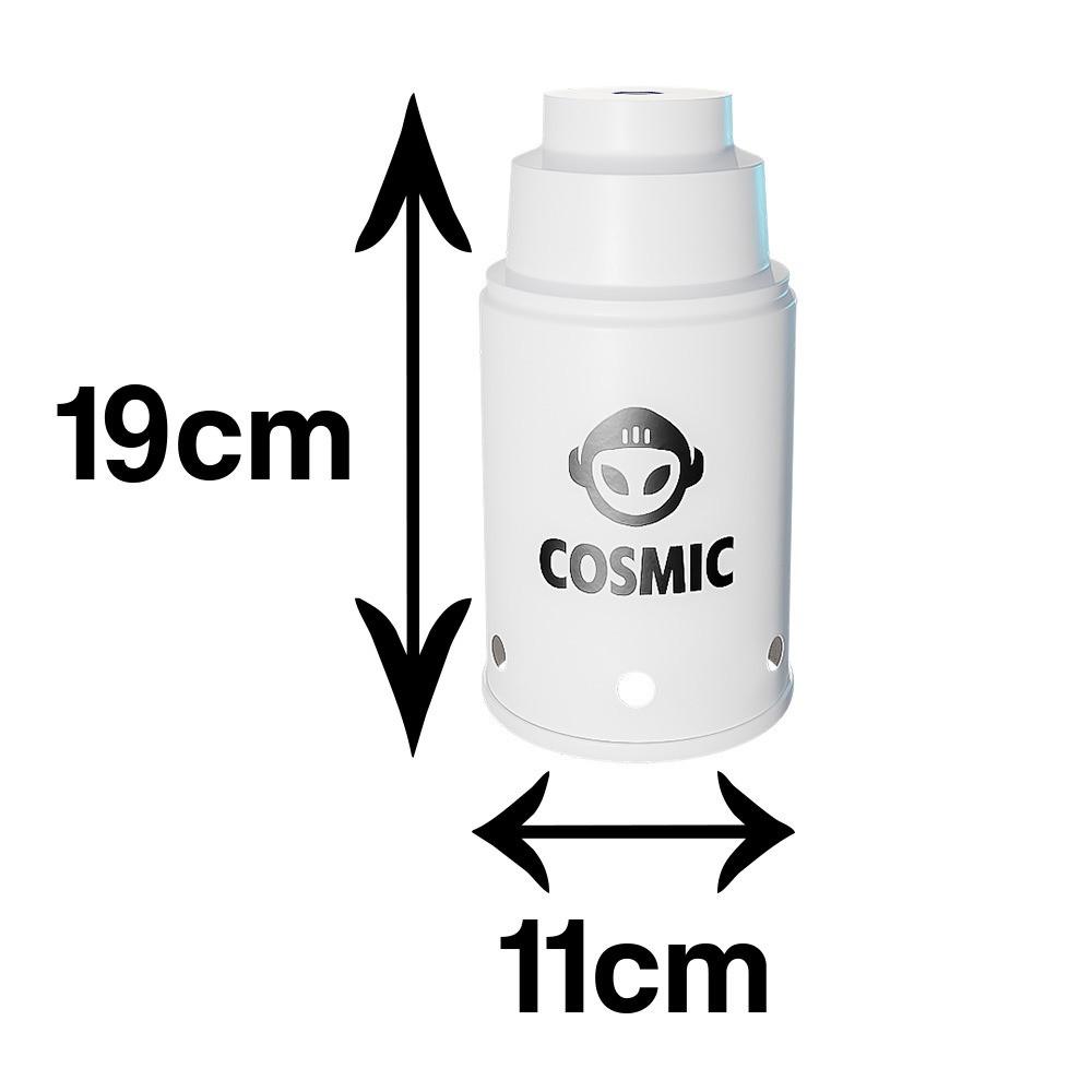 kit Carvão de Coco 4kg Longa Duração e  02 Abafador Branco Pequeno/Médio em Alumínio - Cosmic