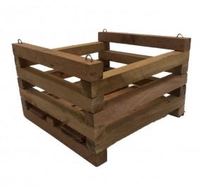 Cachepot de madeira para Orquídeas 20cm X 20cm - Kit com 6