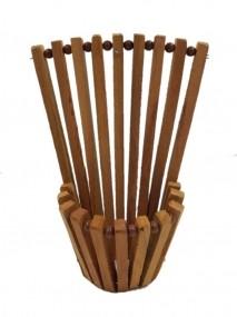 Vaso leque de madeira 15 cm