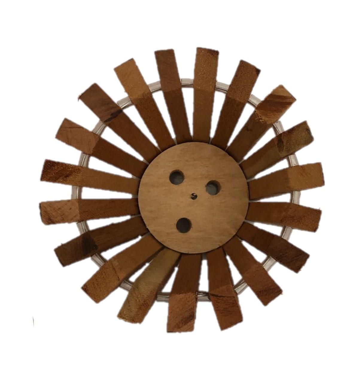 Cachepot de madeira para mesa