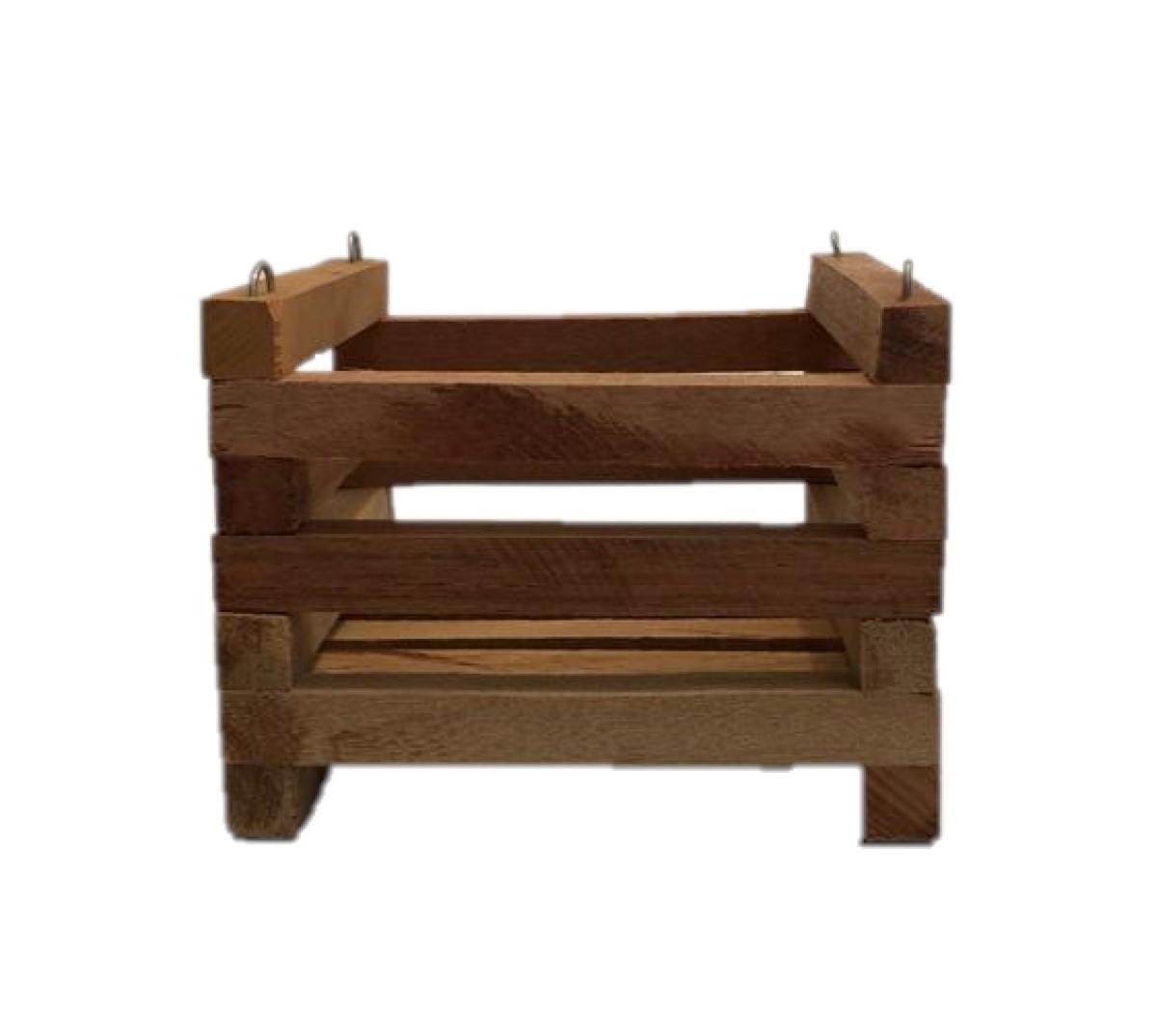 Cachepot de madeira para Orquídeas 13cm X 13cm