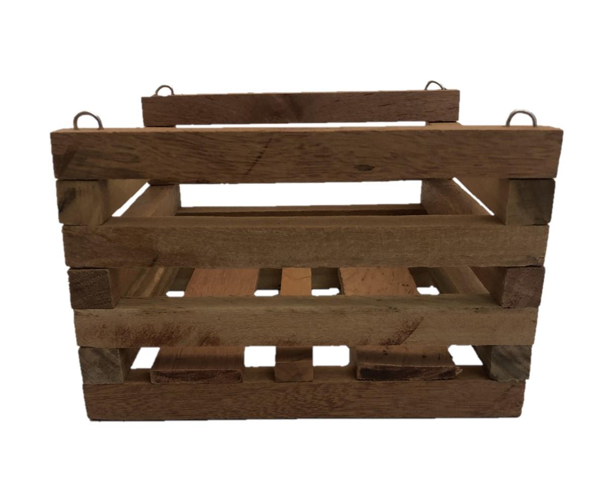 Cachepot de madeira para Orquídeas 16cm X 16cm - Kit com 6