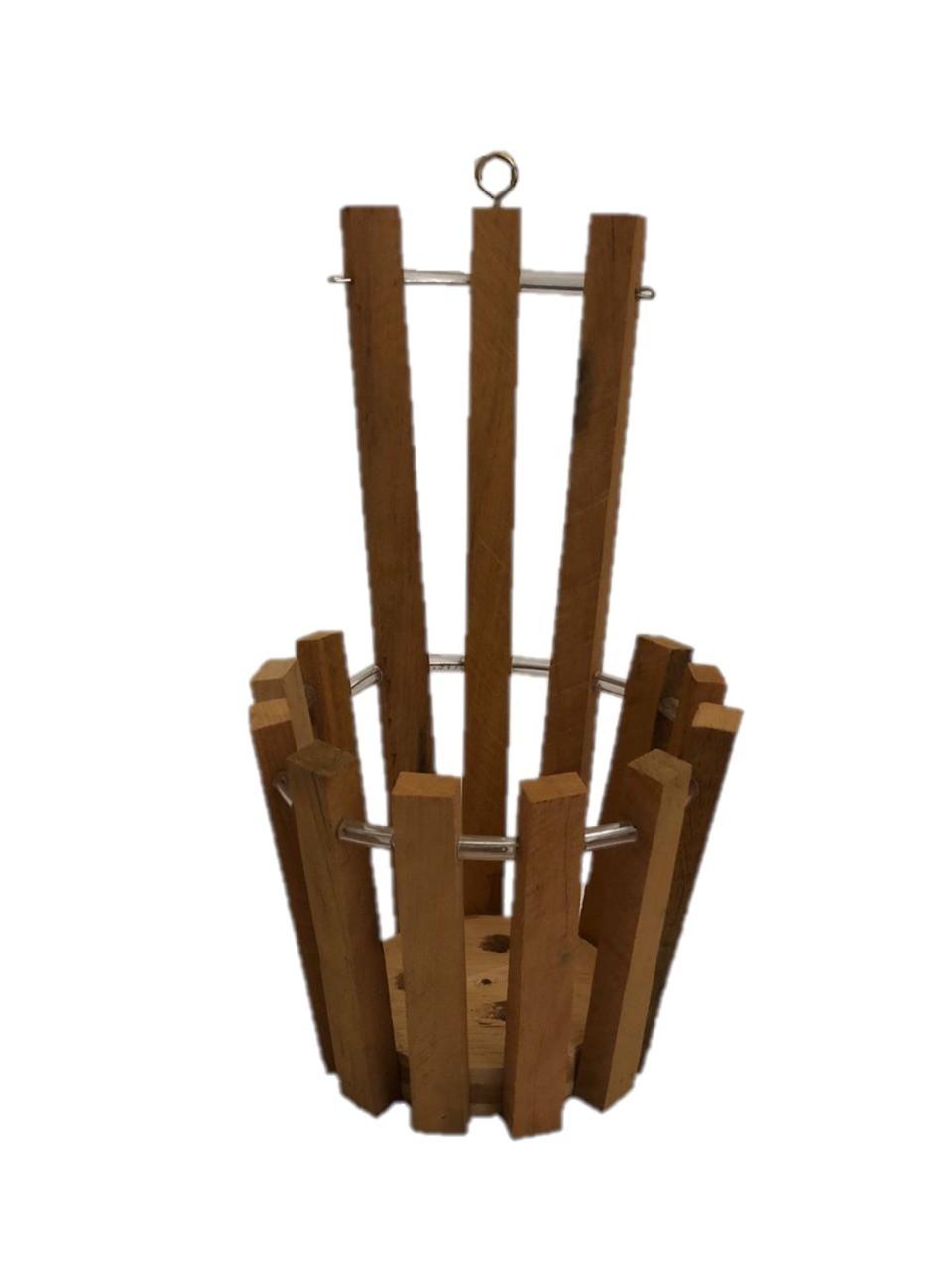 Cachepot de madeira para parede
