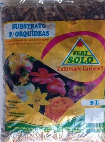 Substrato para Orquídea - casca de macadâmia e carvão