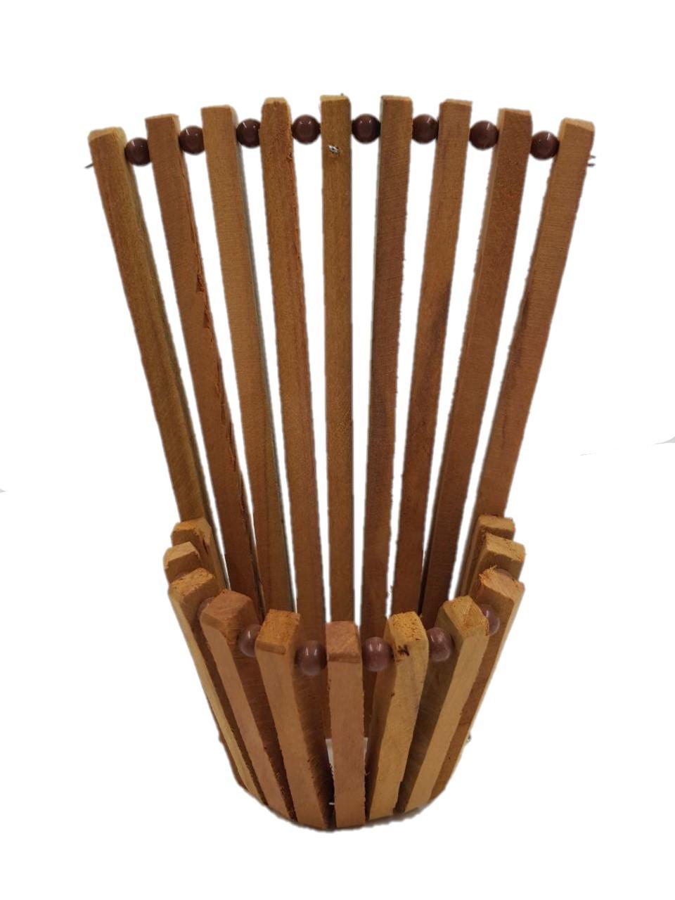 Vaso leque de madeira 20 cm