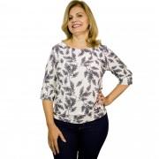 Blusa Estampa Floral com Barra 5149