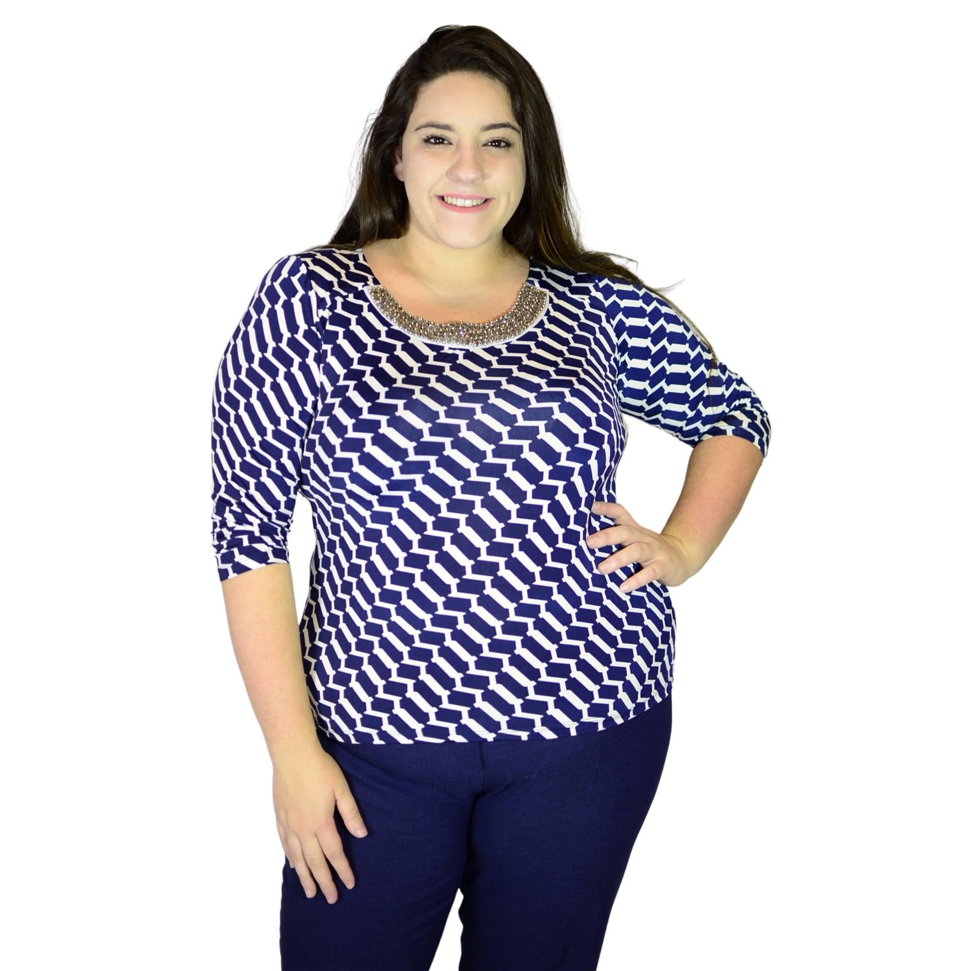 Blusa Decote Bordado 2159