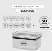 30 ADESIVOS REDONDOS TRANSPARENTES 4 CM