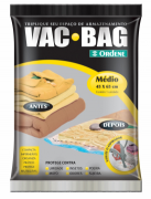 SACO PLÁSTICO PARA ARMAZENAMENTO VAC BAG MD 45x65 CM