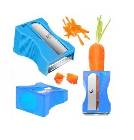 Descascador e Apontador de Legumes - Azul
