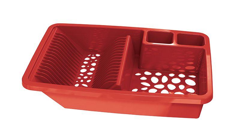 Escorredor de Louças Plastico UZ - Vermelho