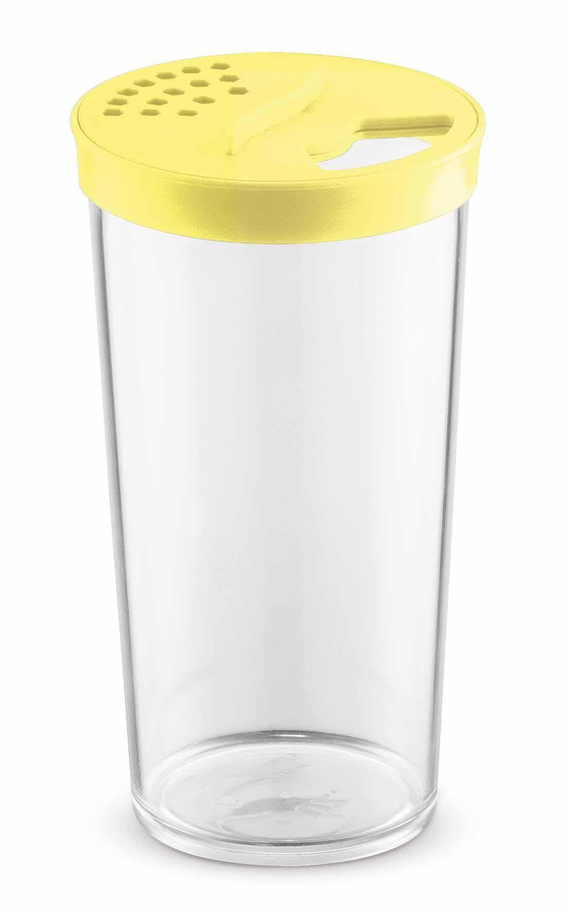 Farinheiro Grande 500ml Plástico Acrílico Uz Amarelo
