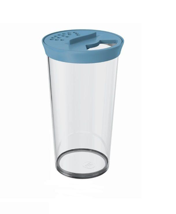 Farinheiro Grande 500ml Plástico Acrílico Uz Azul