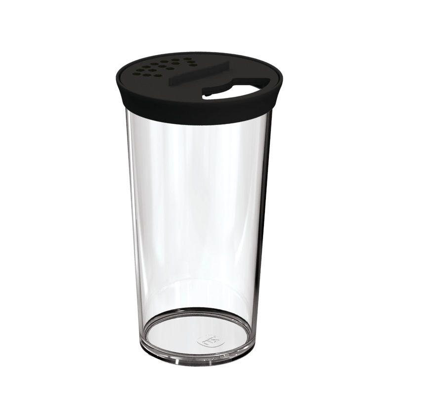 Farinheiro Grande 500ml Plástico Acrílico Uz Preto