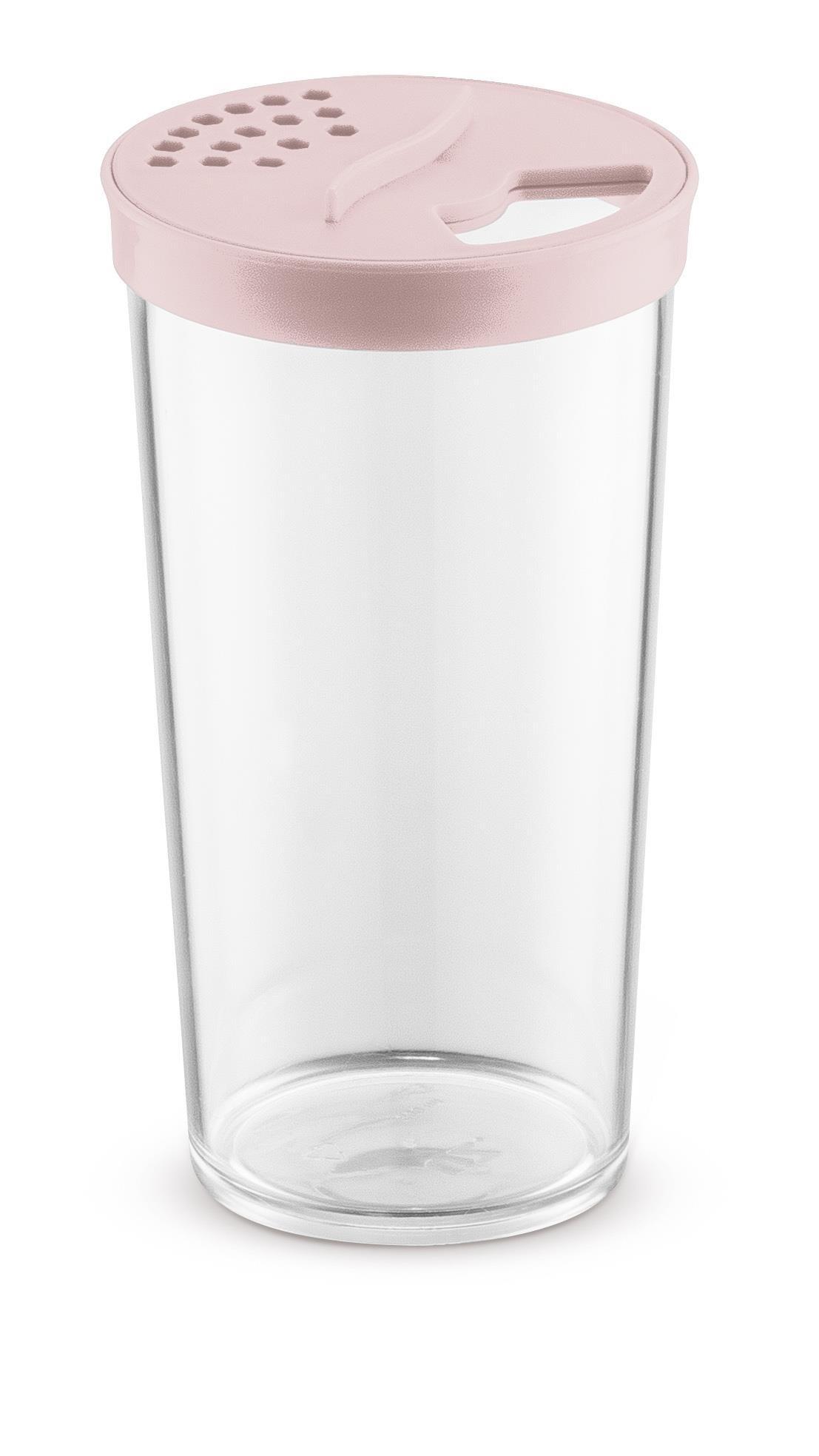 Farinheiro Grande 500ml Plástico Acrílico Uz Rosa