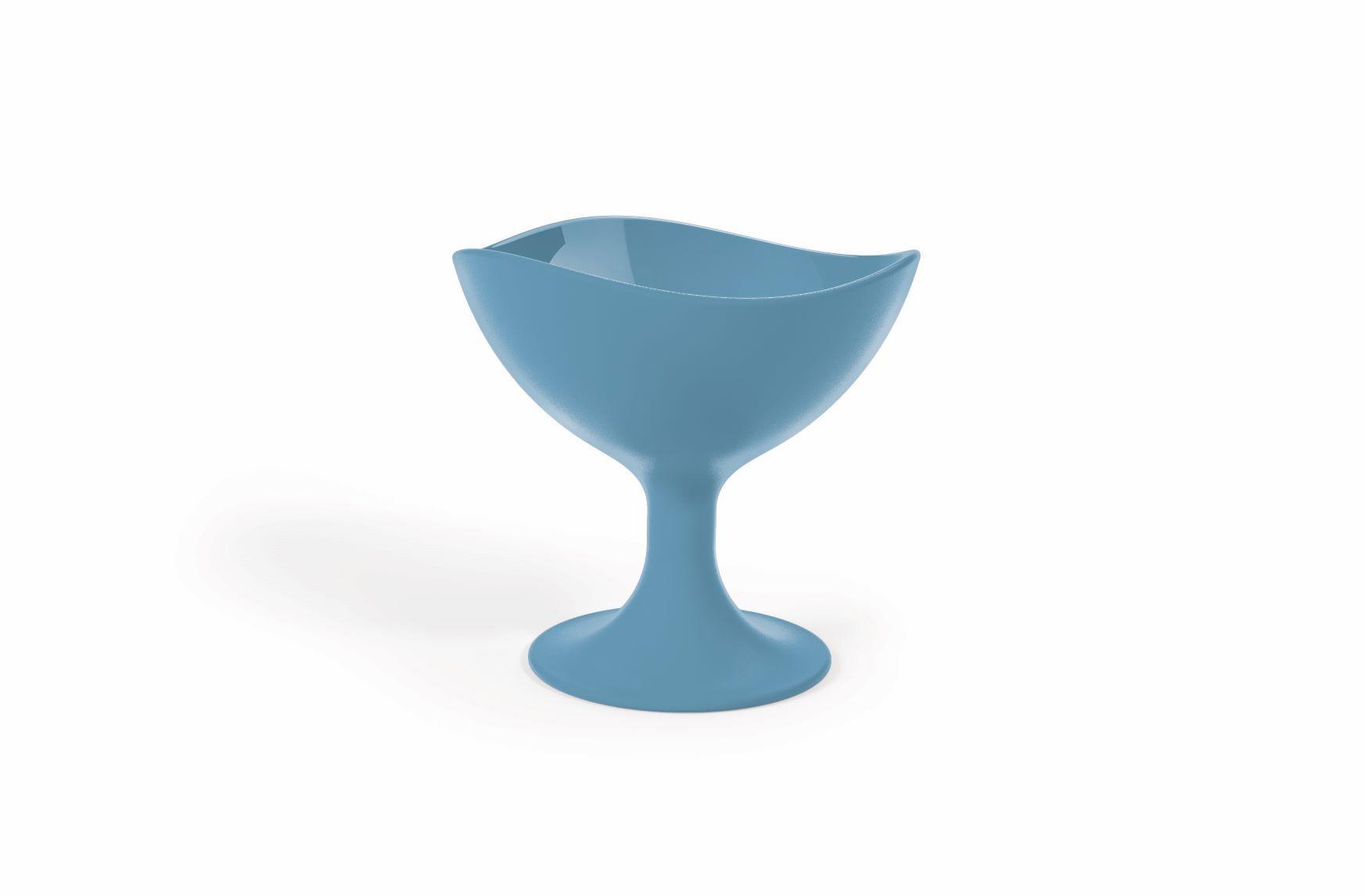 Jogo 6 Taças Para sorvete 300ML UZ Utilidades - Azul