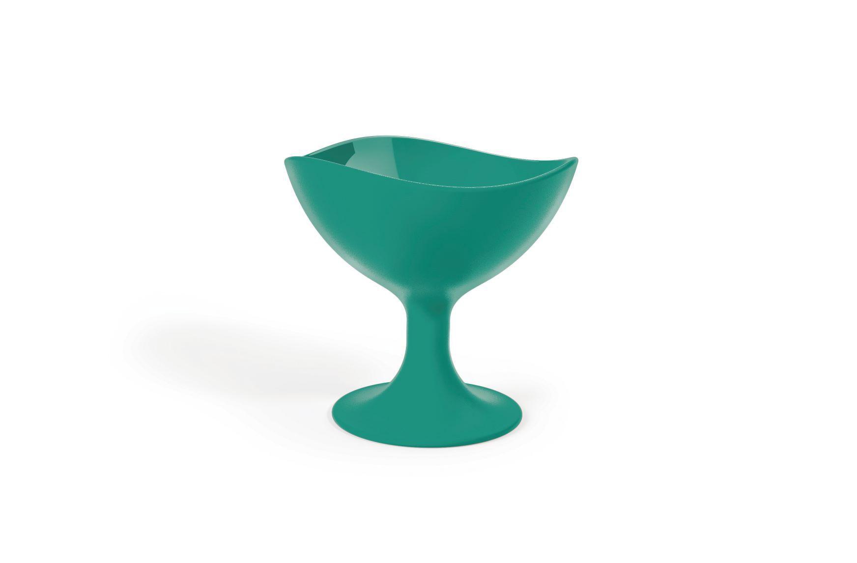 Jogo 6 Taças Para sorvete 300ML UZ Utilidades - Verde