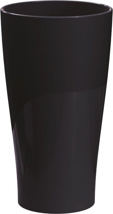 Jogo de 4 Copos Plásticos Solido 500ML UZ Utilidades - Preto