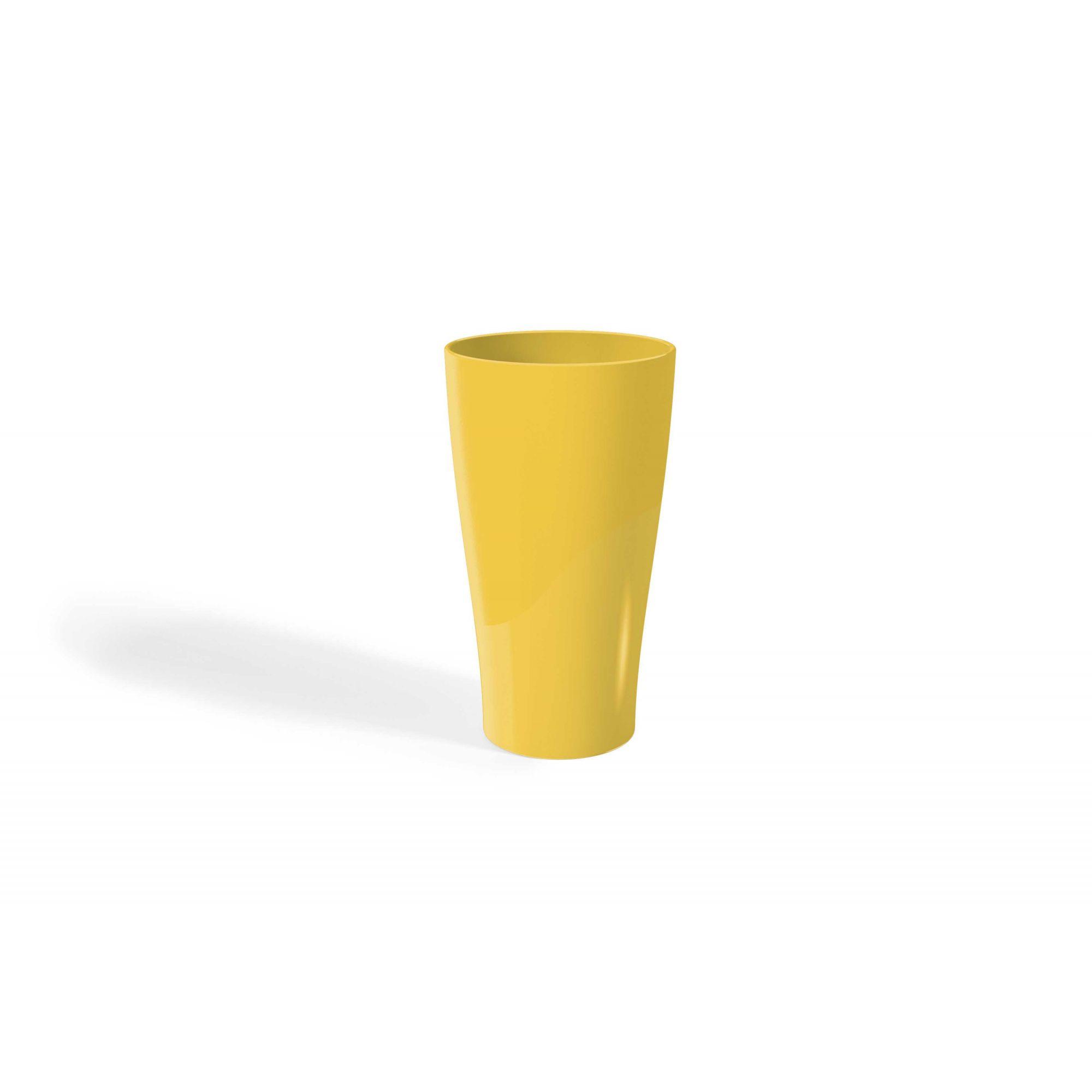 Jogo de 6 Copos Plásticos Solido 500ML UZ Utilidades - Amarelo