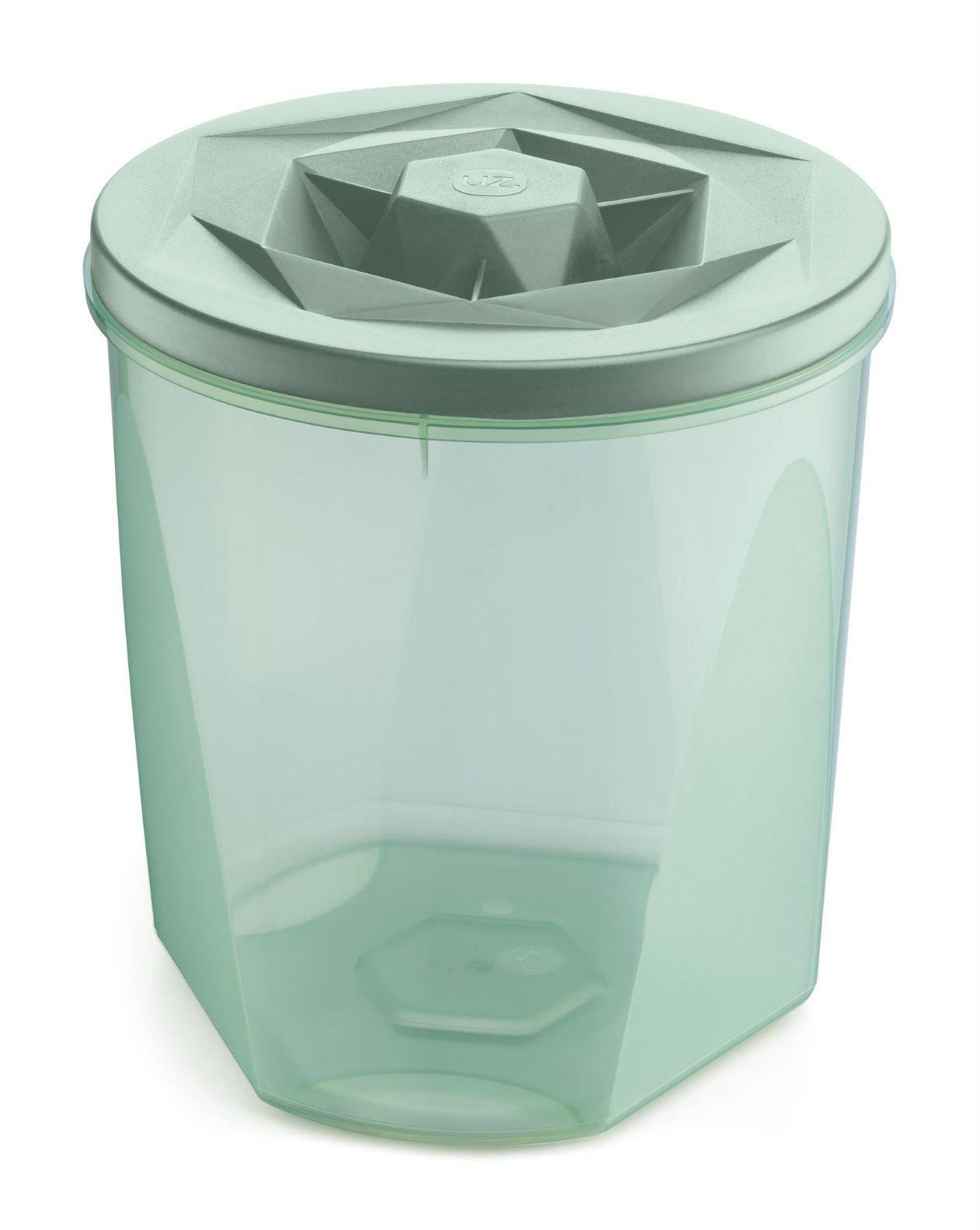 Jogo de Potes Porta Mantimentos 5 Peças Plástico Vision Com Tampa de Rosca UZ Utilidades ? Verde
