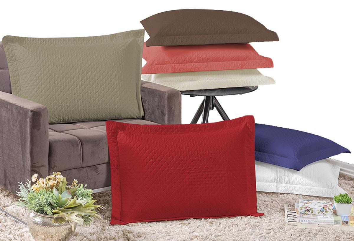 Kit 2 Capas Porta Travesseiro Matelado Microcolor Diversos
