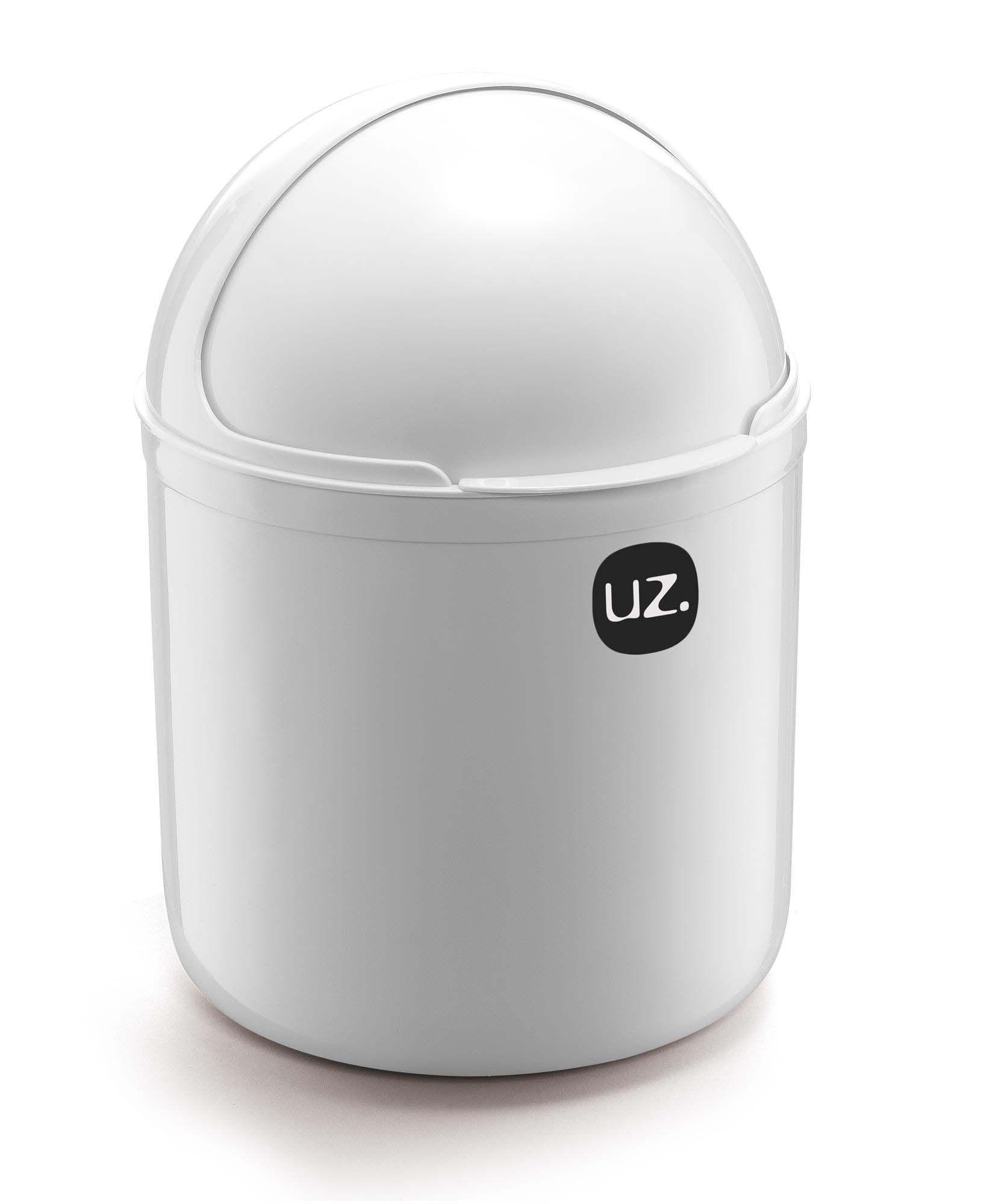 Kit 2 Peças Lixeira De Pia 4 Litros e Porta Detergente 500ml UZ Branco