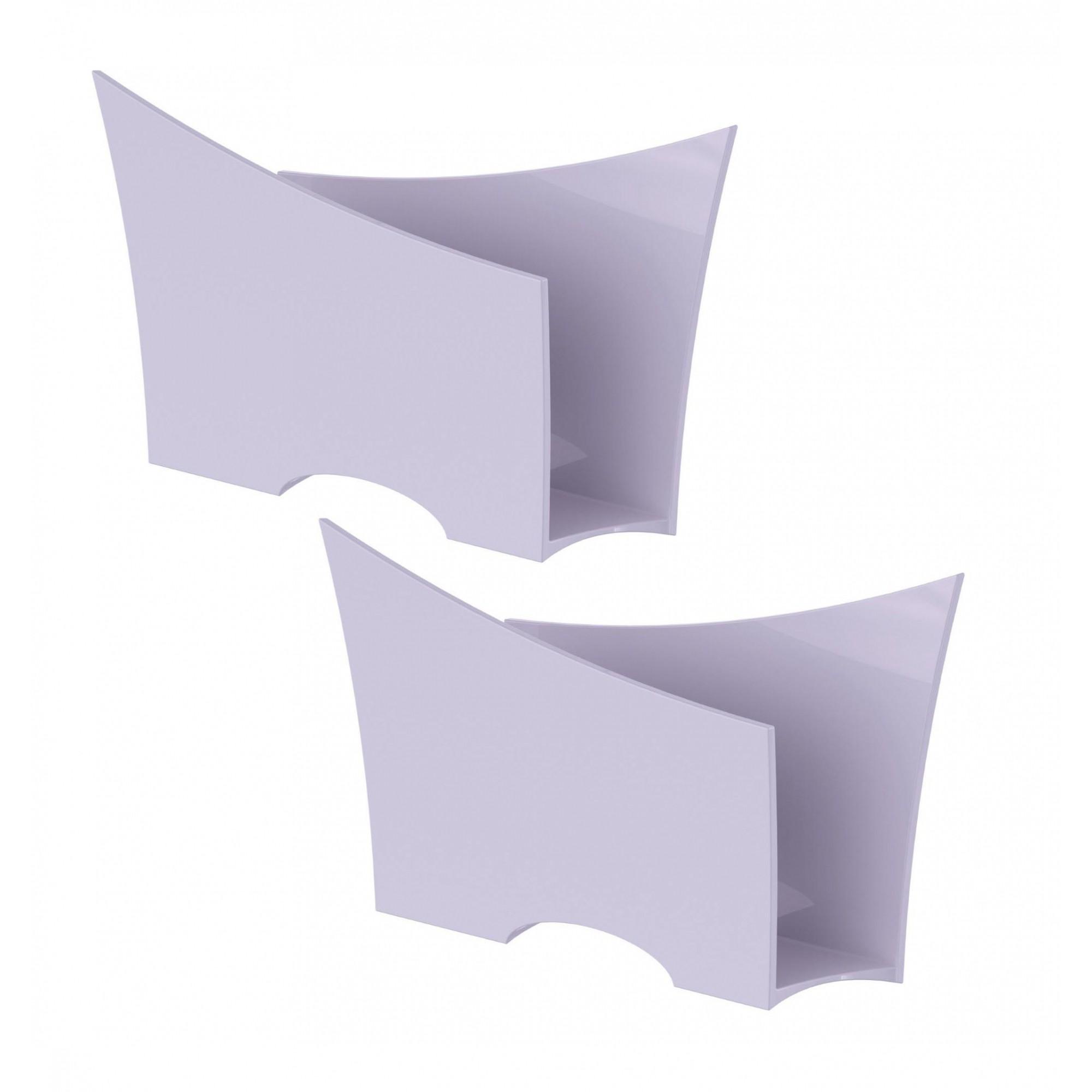 Kit 2 Porta Guardanapo Quadrado Plástico UZ Branco