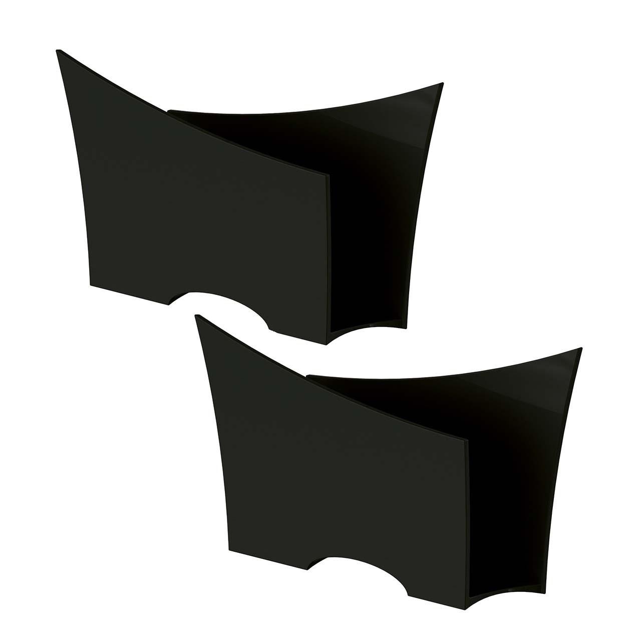 Kit 2 Porta Guardanapo Quadrado Plástico UZ Preto