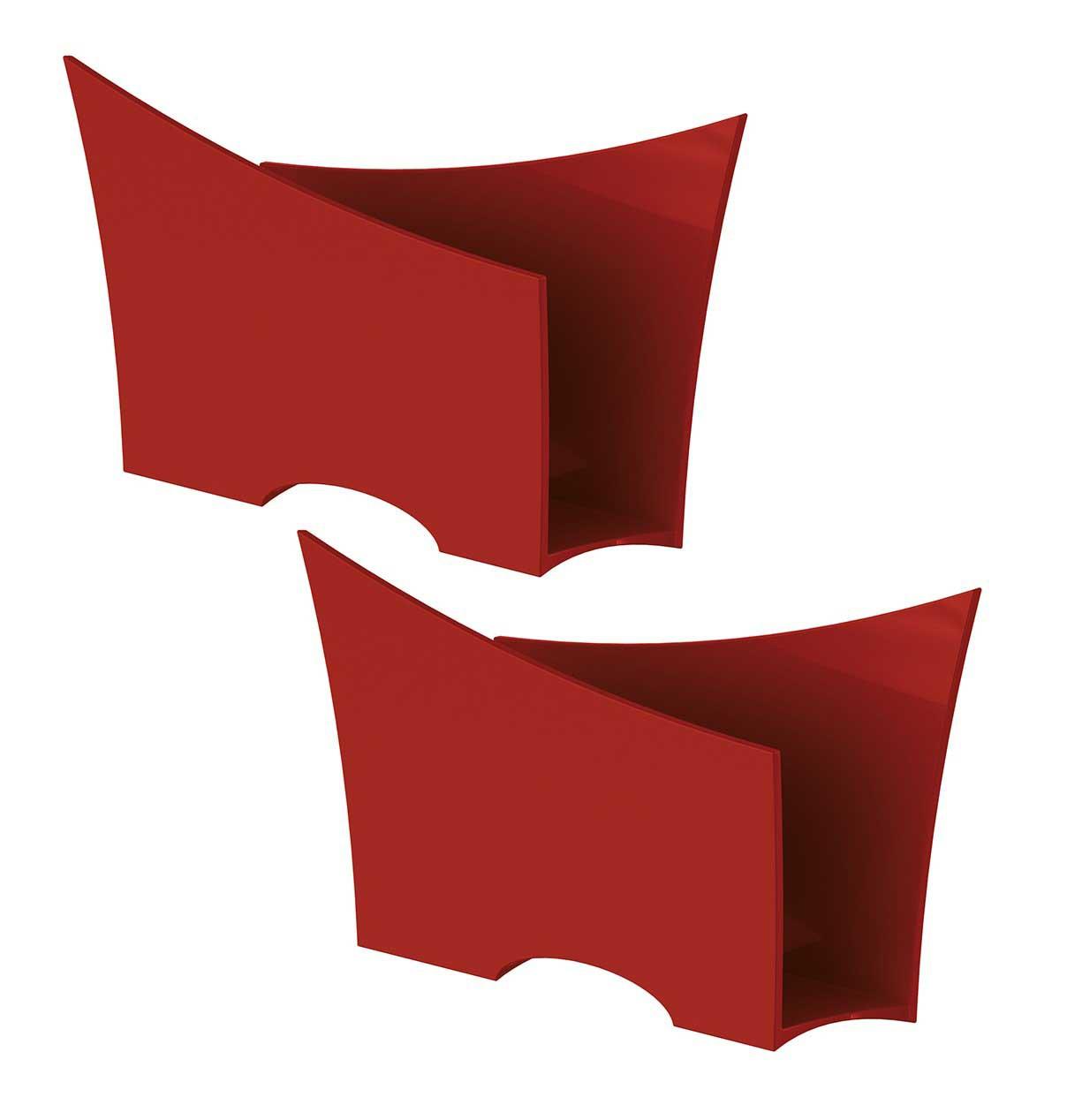 Kit 2 Porta Guardanapo Quadrado Plástico UZ Vermelho