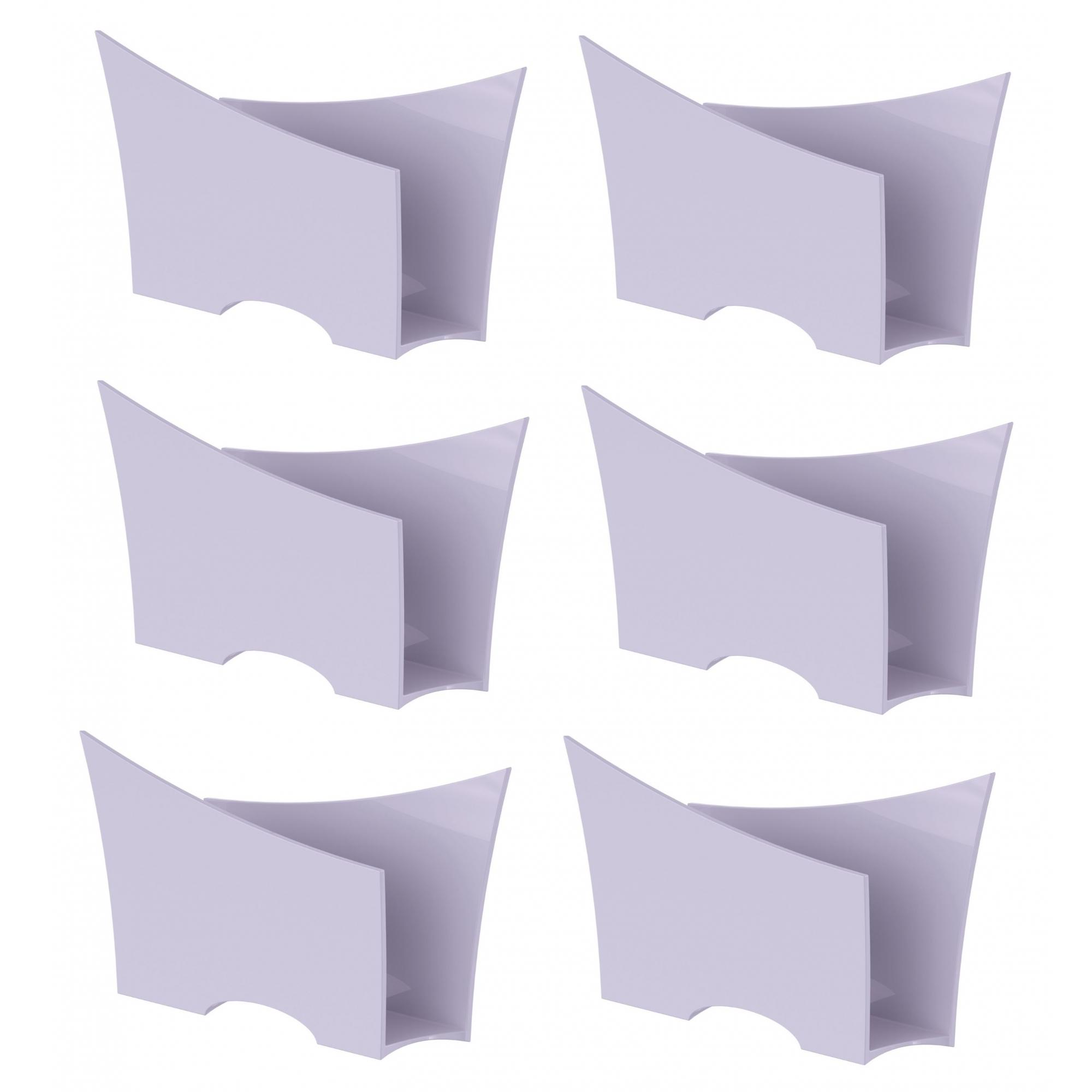Kit 6 Porta Guardanapo Quadrado Plástico UZ Branco
