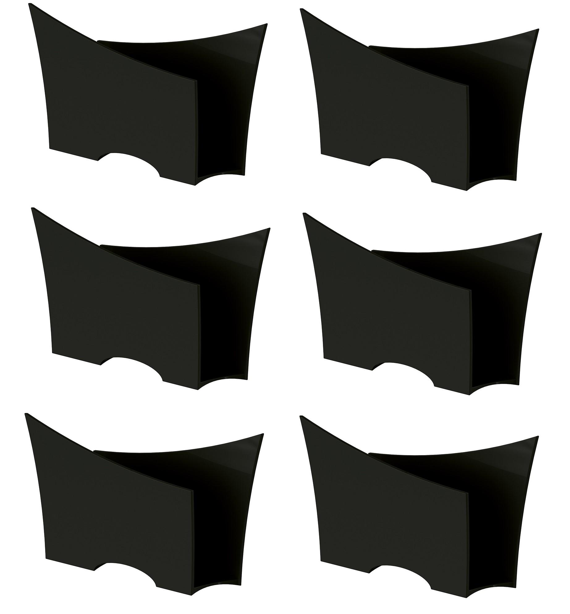 Kit 6 Porta Guardanapo Quadrado Plástico UZ Preto