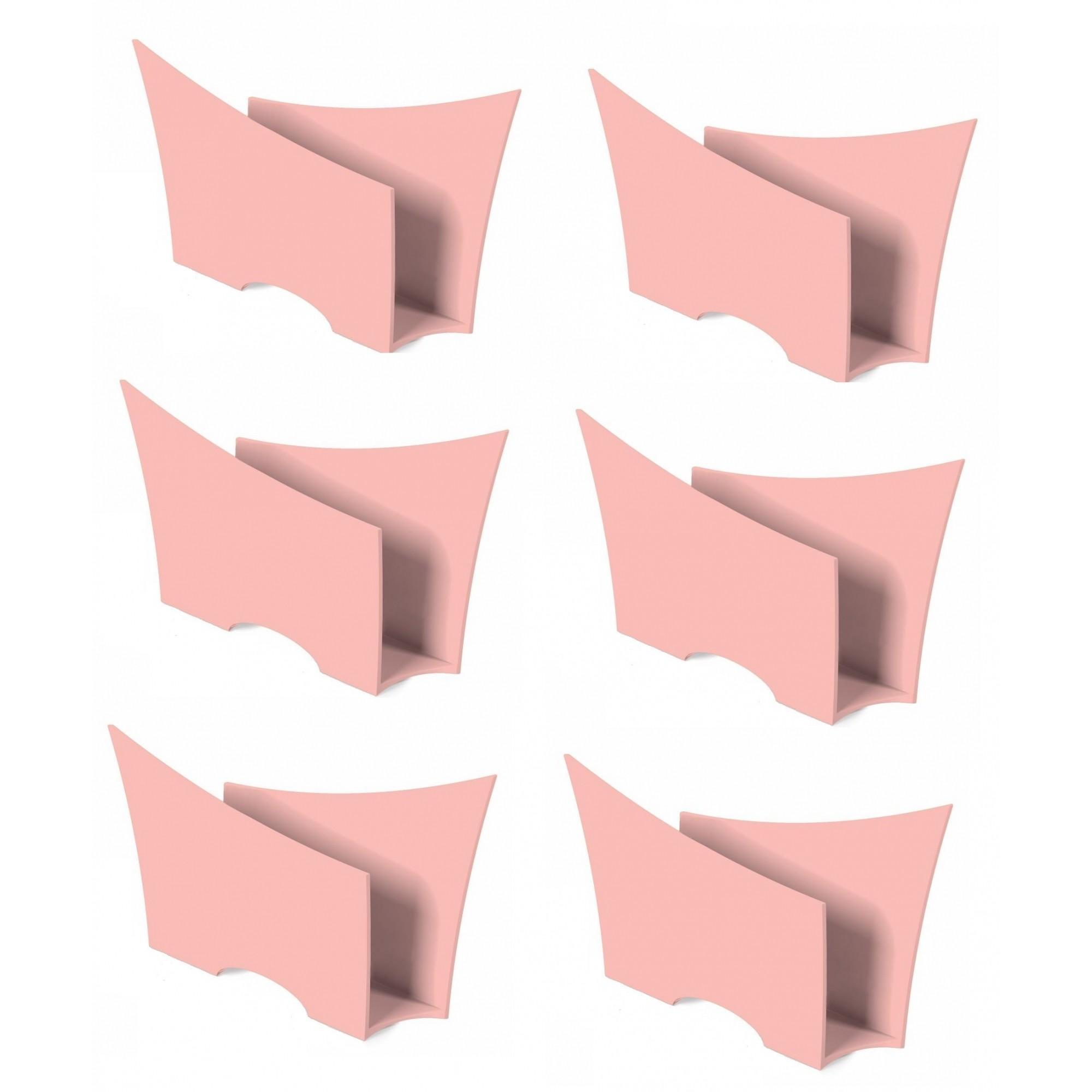 Kit 6 Porta Guardanapo Quadrado Plástico UZ Rosa