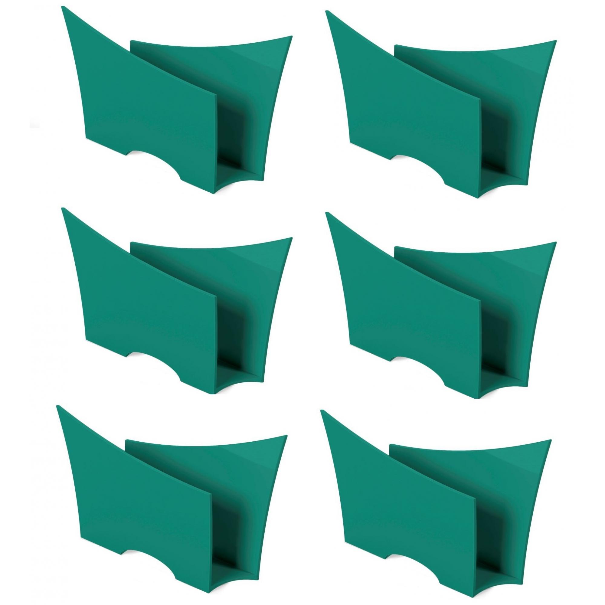 Kit 6 Porta Guardanapo Quadrado Plástico UZ Verde