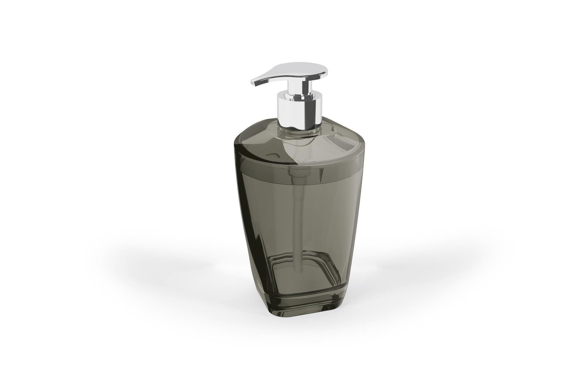 Kit Higiene Banheiro 4 Peças Porta Escova Sabonete Líquido Porta Algodão E Saboneteira Premium Uz Preto