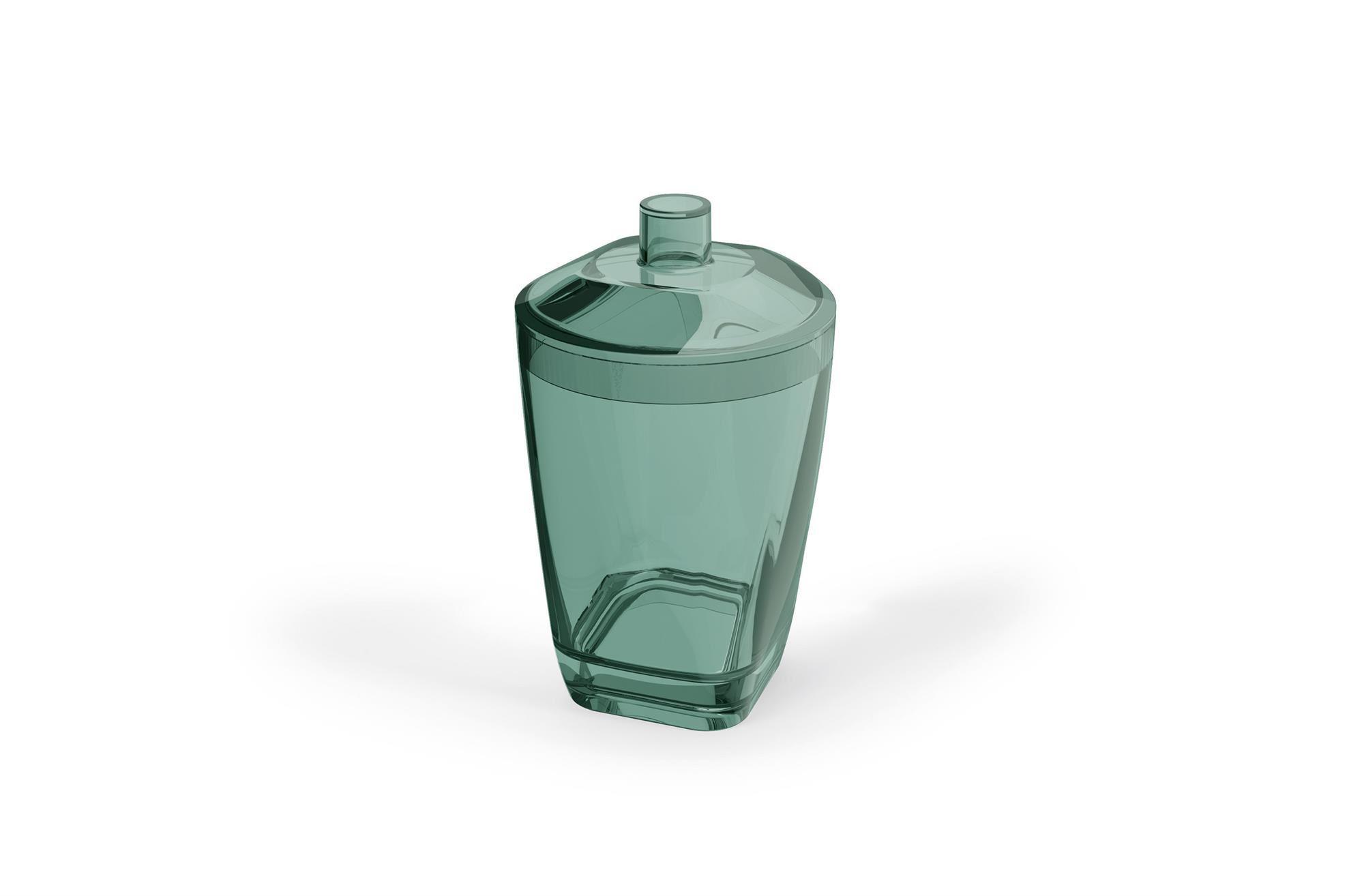 Kit Higiene Banheiro 4 Peças Porta Escova Sabonete Líquido Porta Algodão E Saboneteira Premium Uz Verde