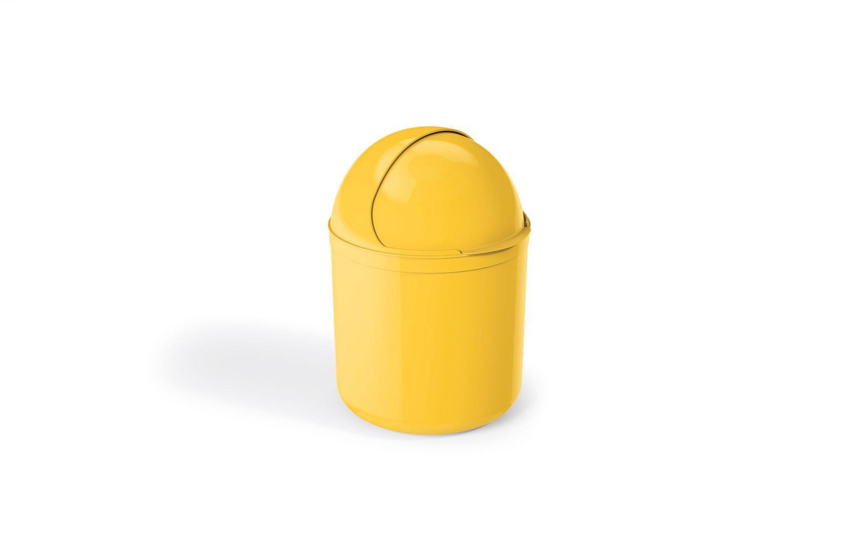 Lixeira Para Pia Plástico 4 Litros - UZ Amarelo